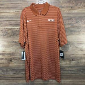 Nike Texas Longhorns Dri-Fit Stadium Golf Polo New